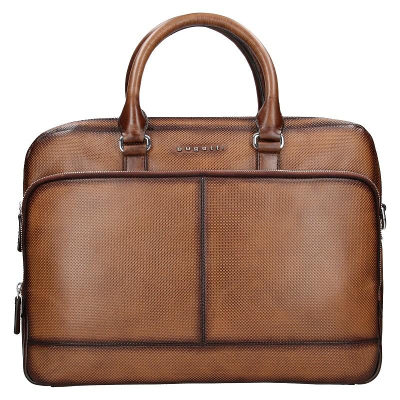 Pánská kožená taška přes rameno Bugatti Andreas - hnedá
