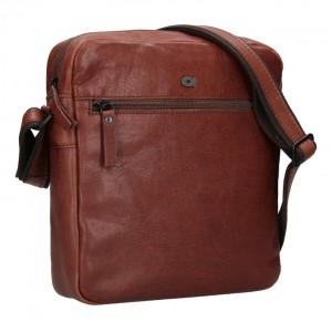 Pánska kožená taška Daag Paul - hnedá