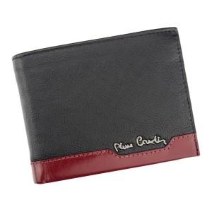 Pánska kožená peňaženka Pierre Cardin Jack - čierno-modrá