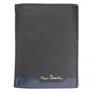 Pánska kožená peňaženka Pierre Cardin Peter - čierno-červená
