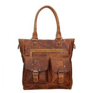 Dámska kožená kabelka Greenwood Kirsty - hnedá