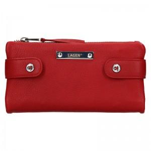 Dámska kožená peňaženka Lagen Monica - červená