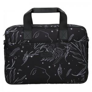 Dámska taška na notebook Hexagona Flow - čierna