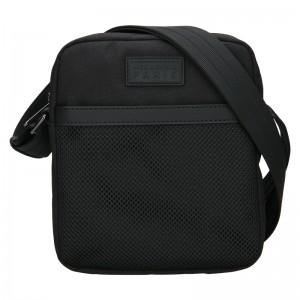 Pánska taška cez rameno Hexagon Johanes - čierna