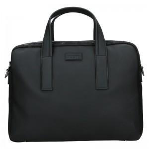 Pánska business taška cez rameno Hexagona Asphalte - čierna