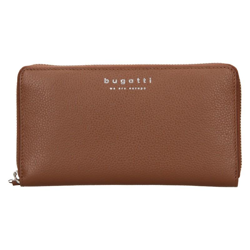 Dámska kožená peňaženka Bugatti Ruth - hnedá