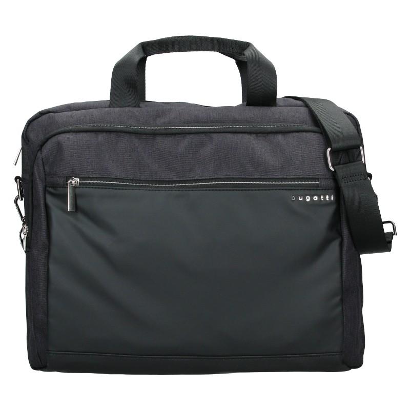 Pánska taška na notebook Bugatti Vinston - čierno-šedá
