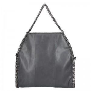 Extravagantná kožená kabelka Pierre Cardin Silva - čierna