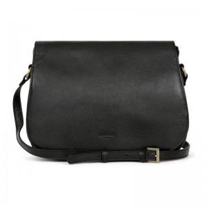 Dámska kožená kabelka Hexagona Giada - čierna