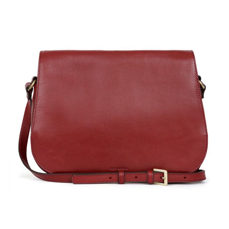 Dámska kožená kabelka Hexagona Giada - červená