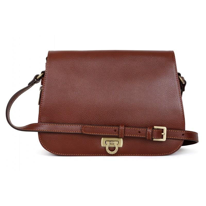 Dámska kožená kabelka Hexagona Alessia - hnedá