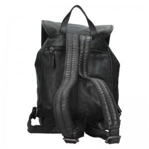 Kožený batoh Justified Ineo - čierna