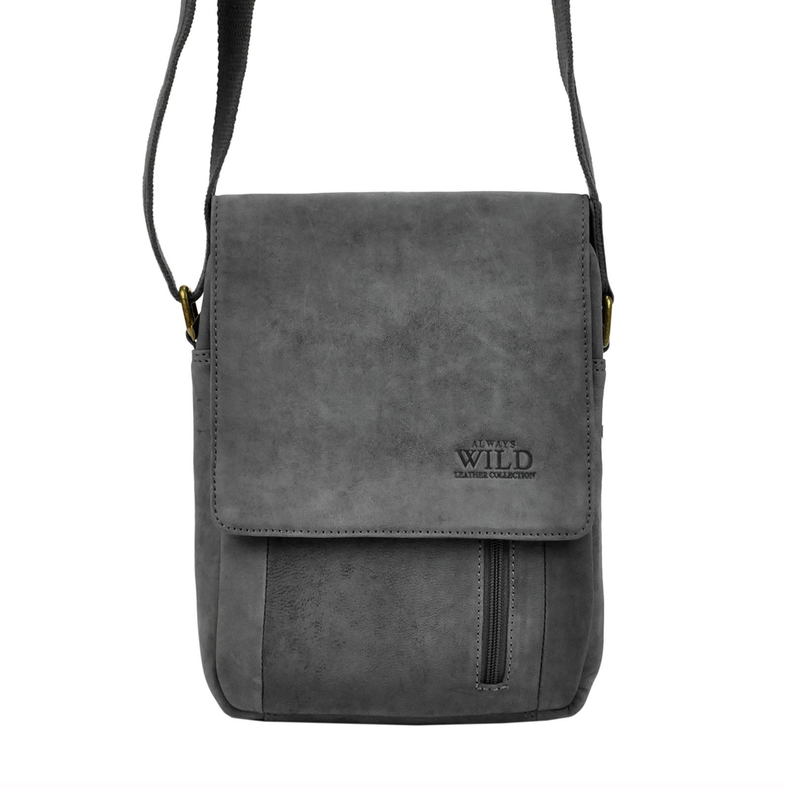 Pánská taška přes rameno Always Wild Janko - čierno-šedá