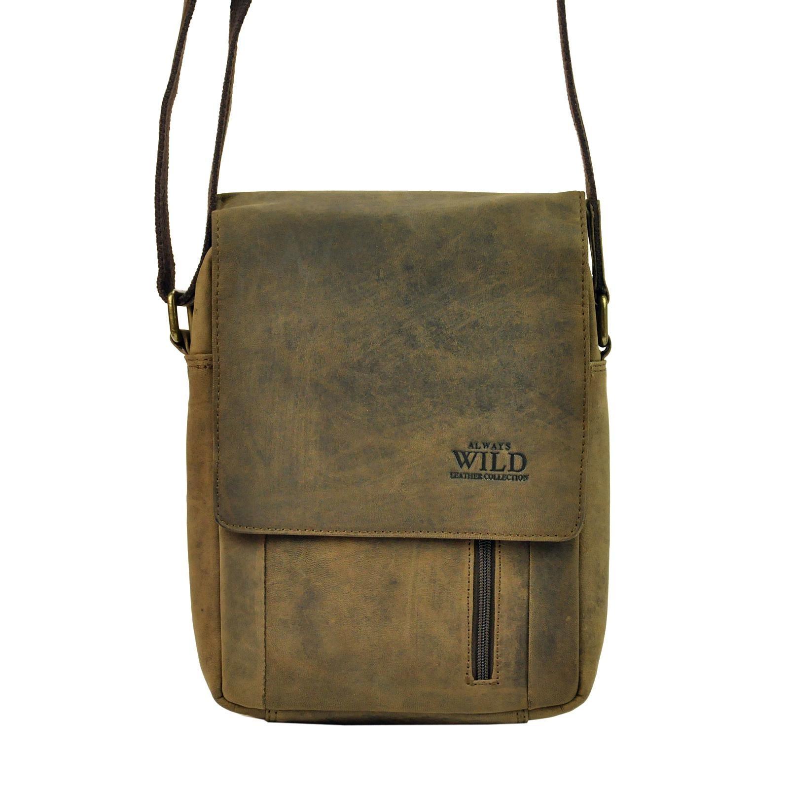 Pánská taška přes rameno Always Wild Janko - hnedá