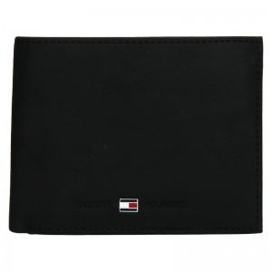 Pánska kožená peňaženka Tommy Hilfiger Flap - čierna