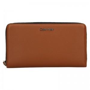 Dámska peňaženka Calvin Klein Wallie - hnedá