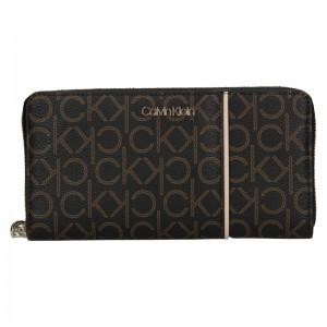 Dámska peňaženka Calvin Klein Wall - tmavo hnedá