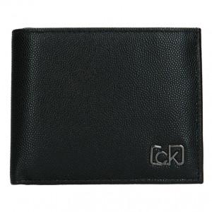 Pánska kožená peňaženka Calvin Klein Brack - čierna