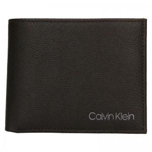Pánska kožená peňaženka Calvin Klein Bifold - hnedá