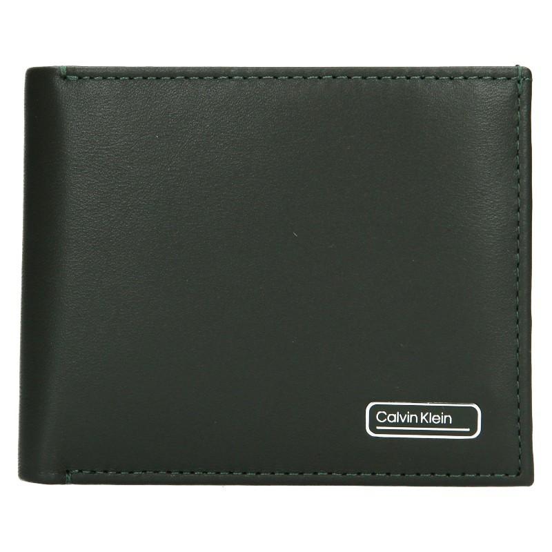 Pánska kožená peňaženka Calvin Klein Bifol - zelená