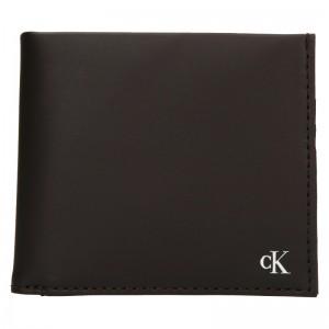 Pánska kožená peňaženka Calvin Klein Bill - hnedá