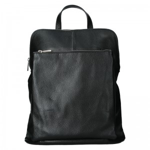 Kožený dámsky batoh Unidax Marion - hnedá