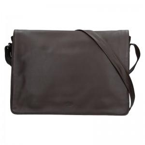 Pánska kožená taška cez rameno Katana Felipe - tmavo hnedá