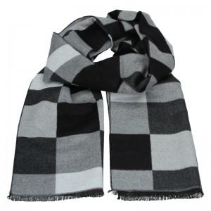 Elegantná pánska šál Lerros Dalibor - černo-šedá