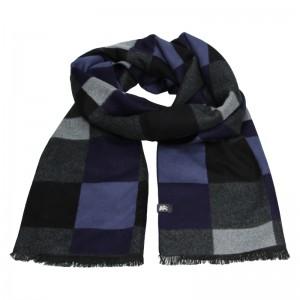 Elegantná pánska šál Lerros Dalibor - čierno-modrá