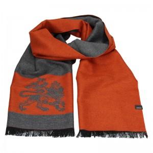 Elegantná pánska šál Lerros Grego - oranžovo-šedá