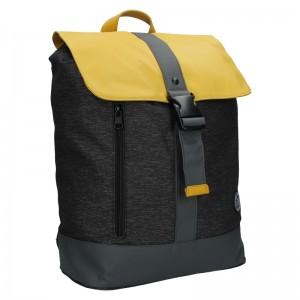 Pánsky vintage batoh Lerros Alfred - čierno-žltá