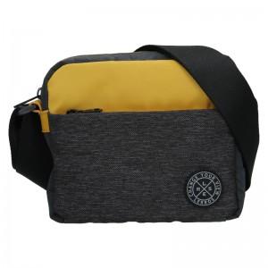 Pánska taška cez rameno Lerros Zarro - čierno-žltá