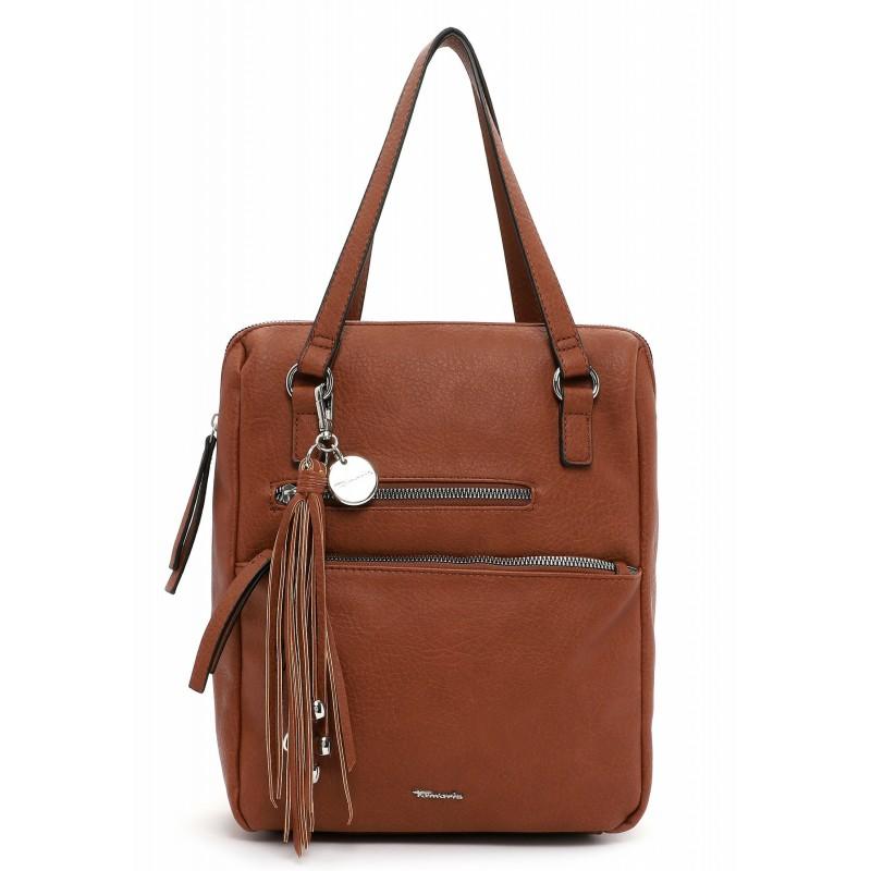 Dámska batôžky-kabelka Tamaris Adole - koňak