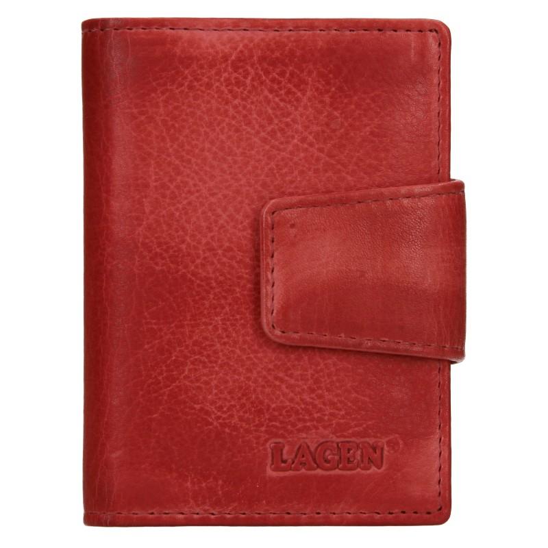 Dámske kožené púzdro na doklady Lagen Žerota - červená