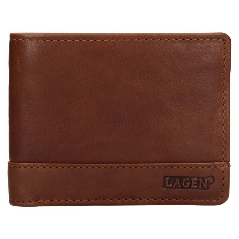 Pánska kožená peňaženka Lagen Pavelos - hnedá