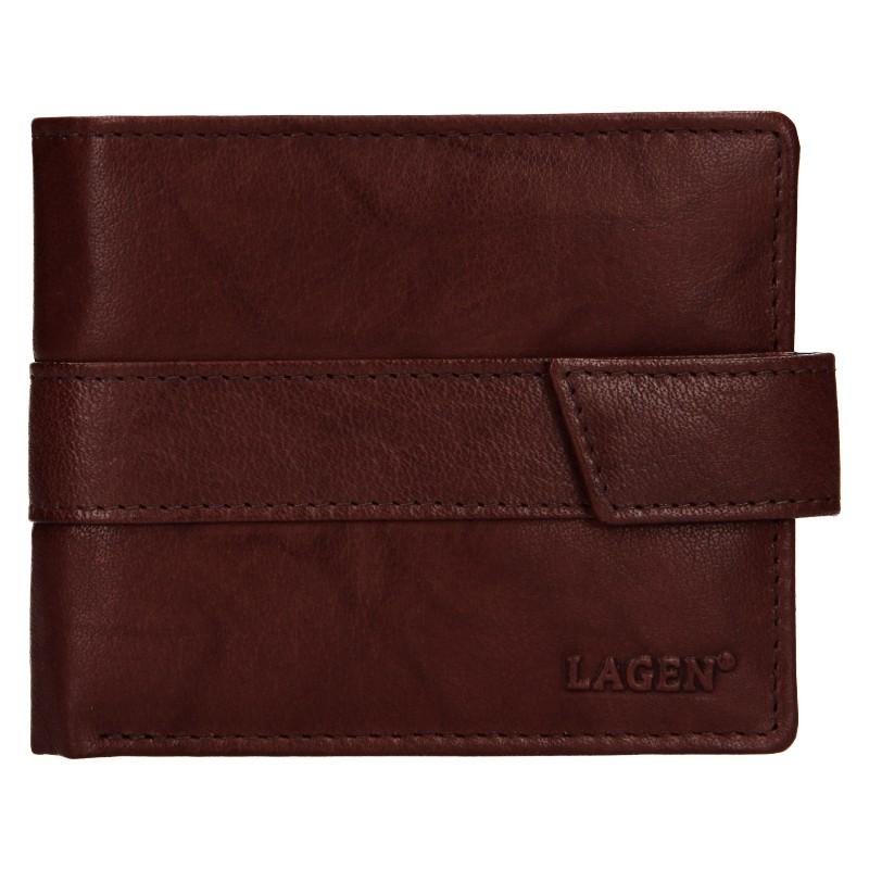Pánska kožená peňaženka Lagen Marian - hnědá