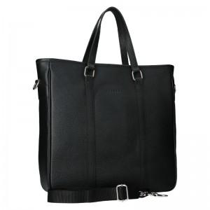 Kožená taška na notebook Facebag Neapol - čierna