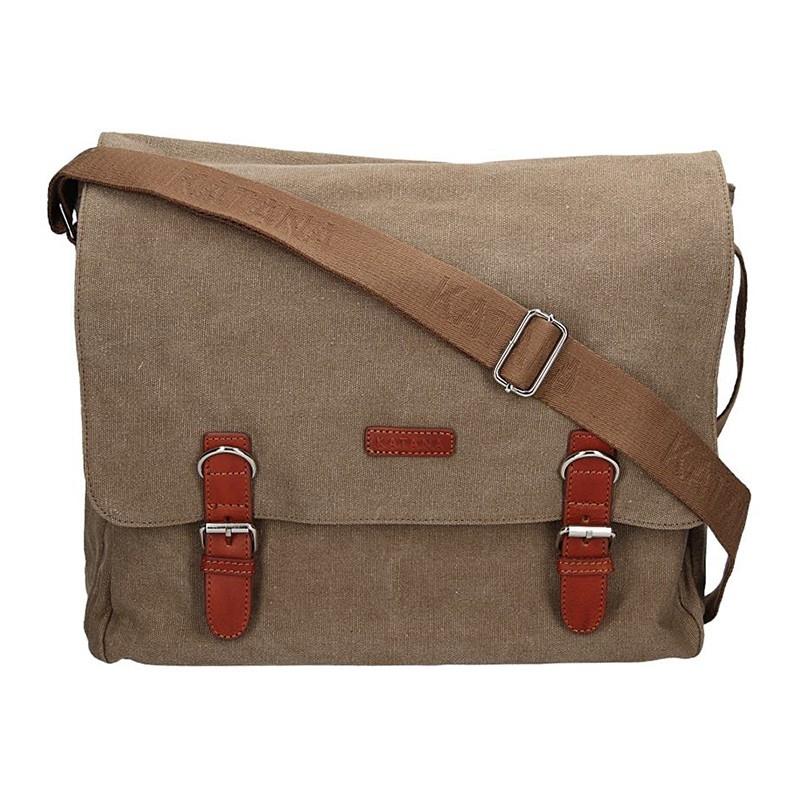 Pánska taška Katana Toile - svetlo hnedá