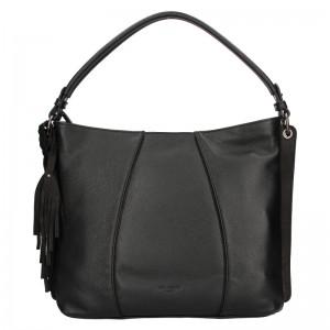 Dámska kožená kabelka Hexagona Kamila - čierna