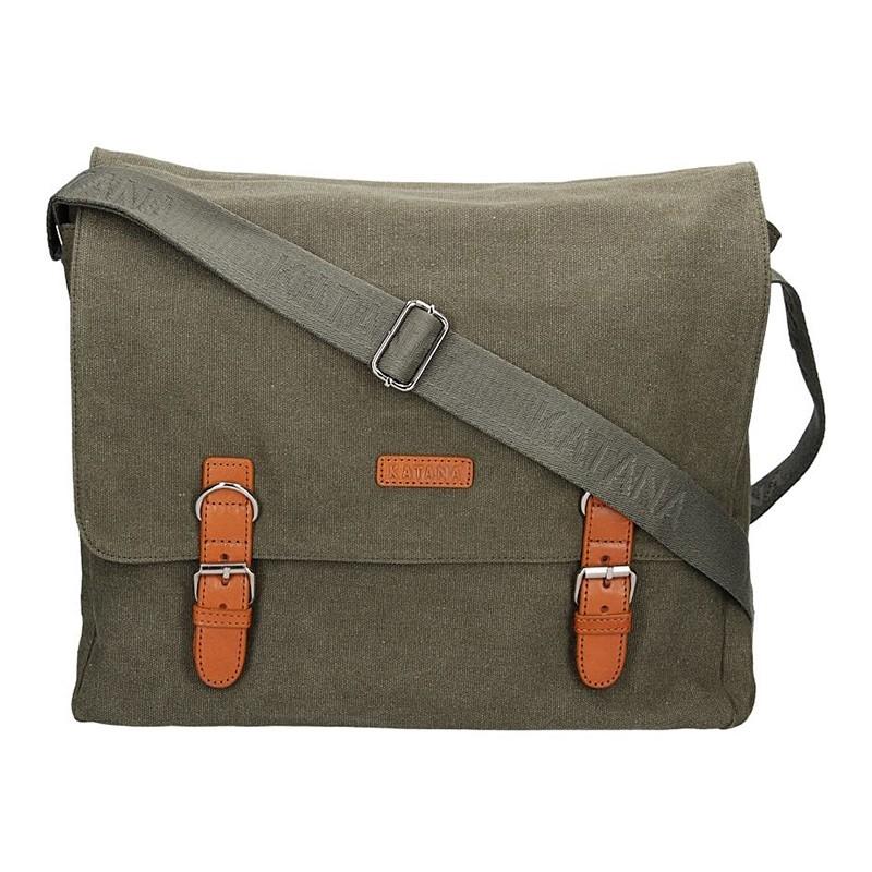 Pánska taška Katana Toile - zeleno-šedá