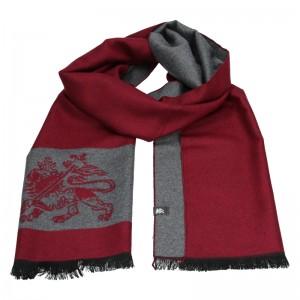 Elegantná pánska šál Lerros Grego - červeno-šedá