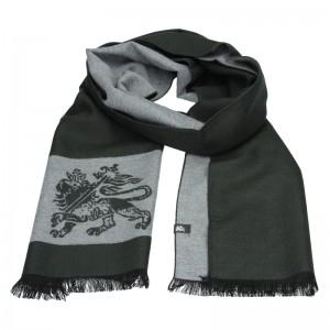 Elegantná pánska šál Lerros Grego - zeleno-šedá