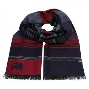 Elegantná pánska šál Lerros Rogl - modro-červená