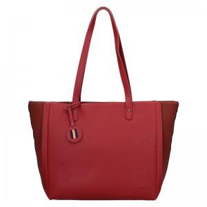 Dámska kabelka Hexagona Joanka - tmavo červená