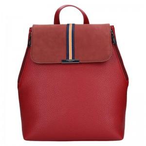 Elegantný dámsky batoh Hexagon Lili - tmavo červená