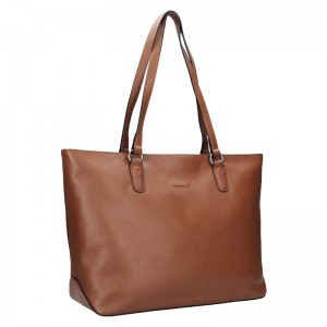 Elegantná dámska kožená kabelka Katana Apolena - červená
