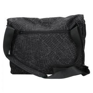 Pánska taška cez rameno Lerros Alexo - šedo-čierná