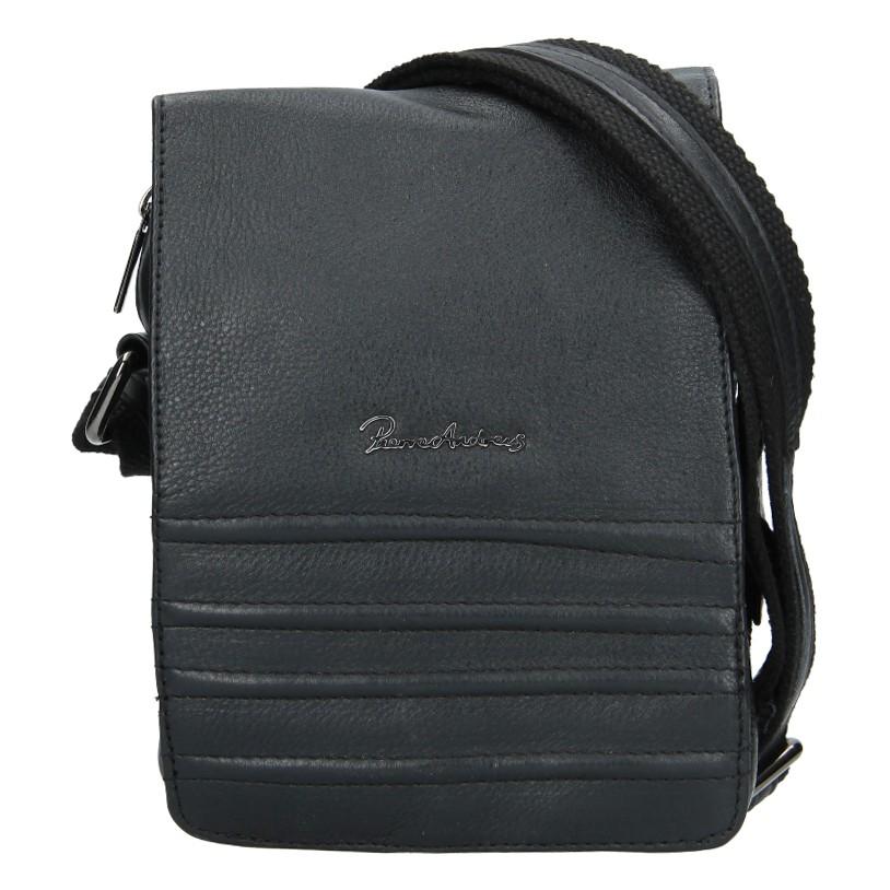 Pánska kožená taška Pierre Andreus Albert - čierna