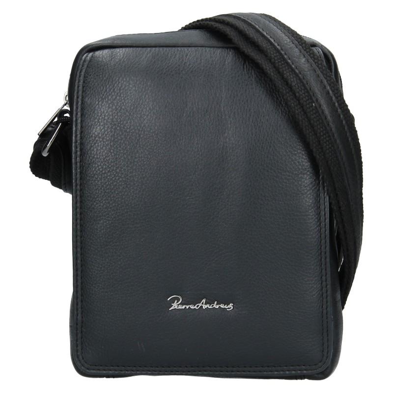 Pánska kožená taška Pierre Andreus Libor - čierna