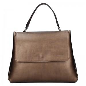 Dámska kožená kabelka Facebag Ditta - bronzová